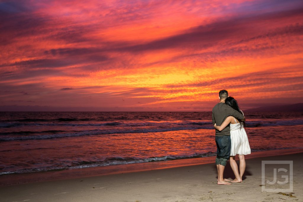 Amazing Santa Monica Engagement Photography Sunset