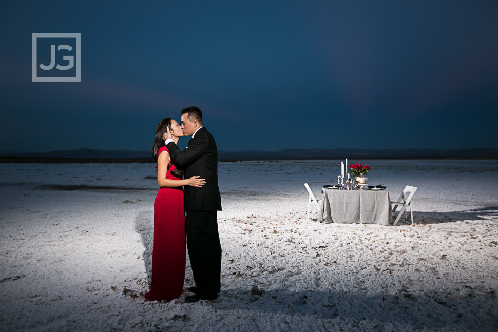Salt Flat Engagement Photography
