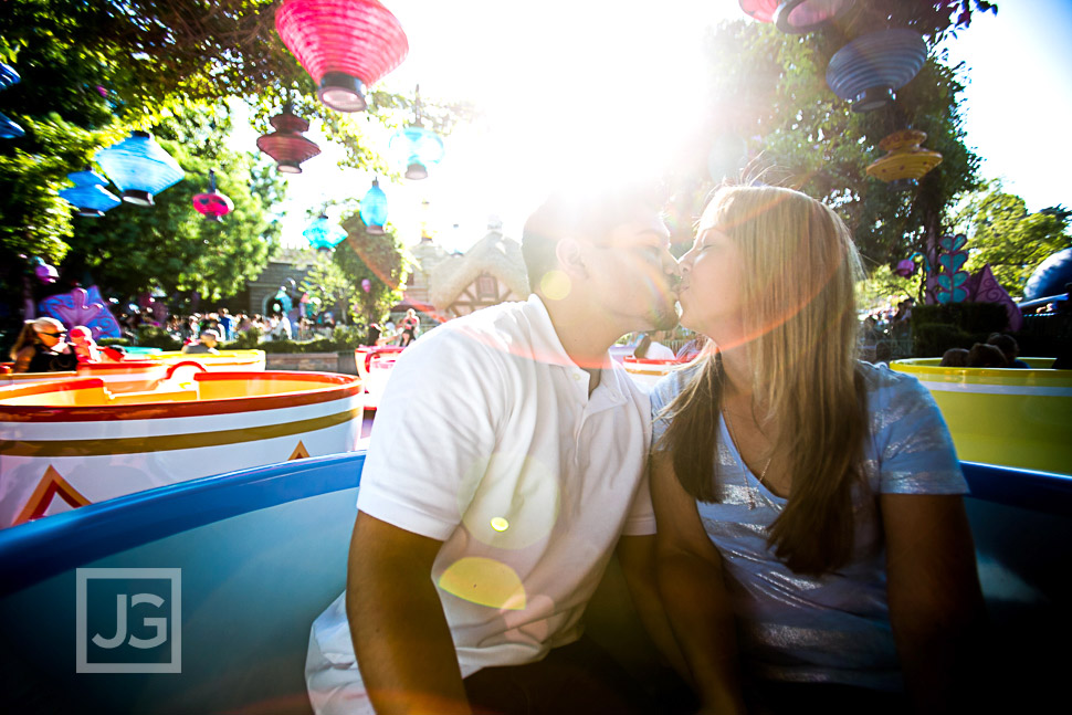 Disneyland Engagement Photography Teacups