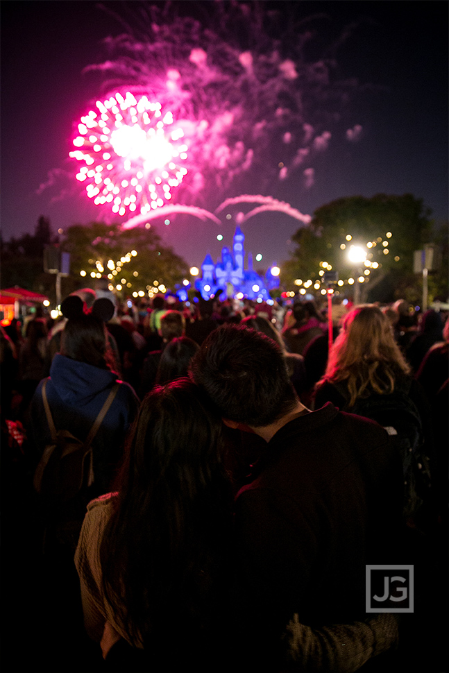 Disneyland Engagement Photography Fireworks