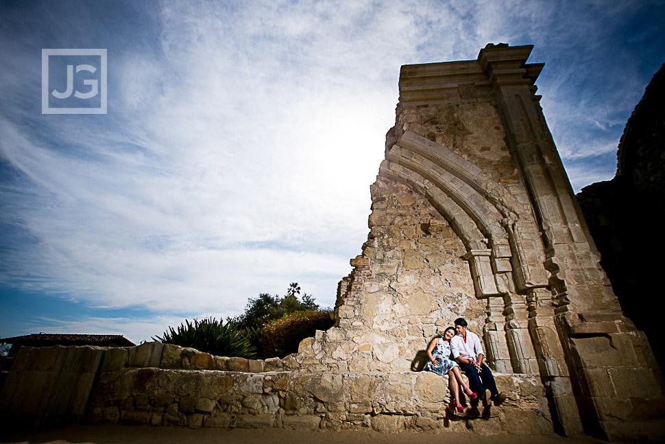 Mission San Juan Capistrano Engagement Photography